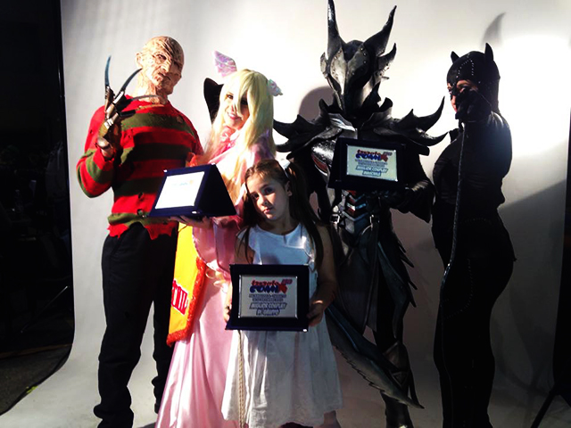 cosplayers vincitori del contest